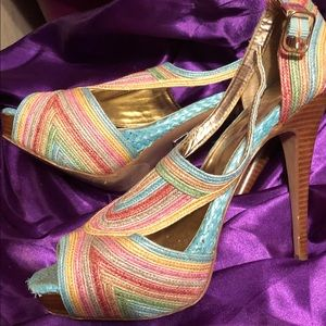 Baker's  multi color heels.